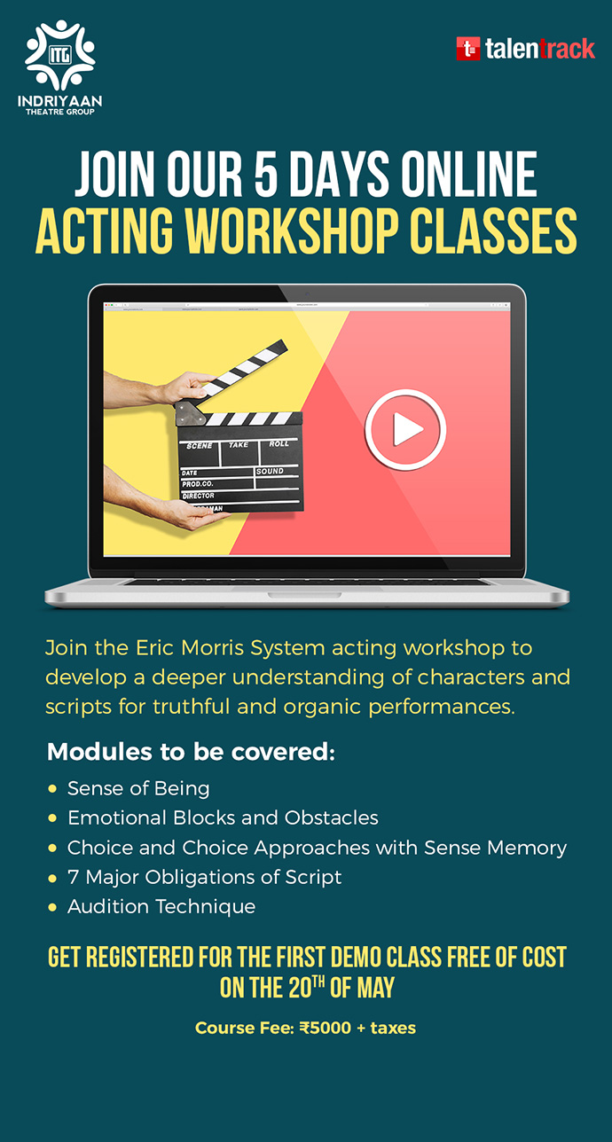 JOIN OUR 5 DAYS ONLINE ACTING WORKSHOP CLASSES