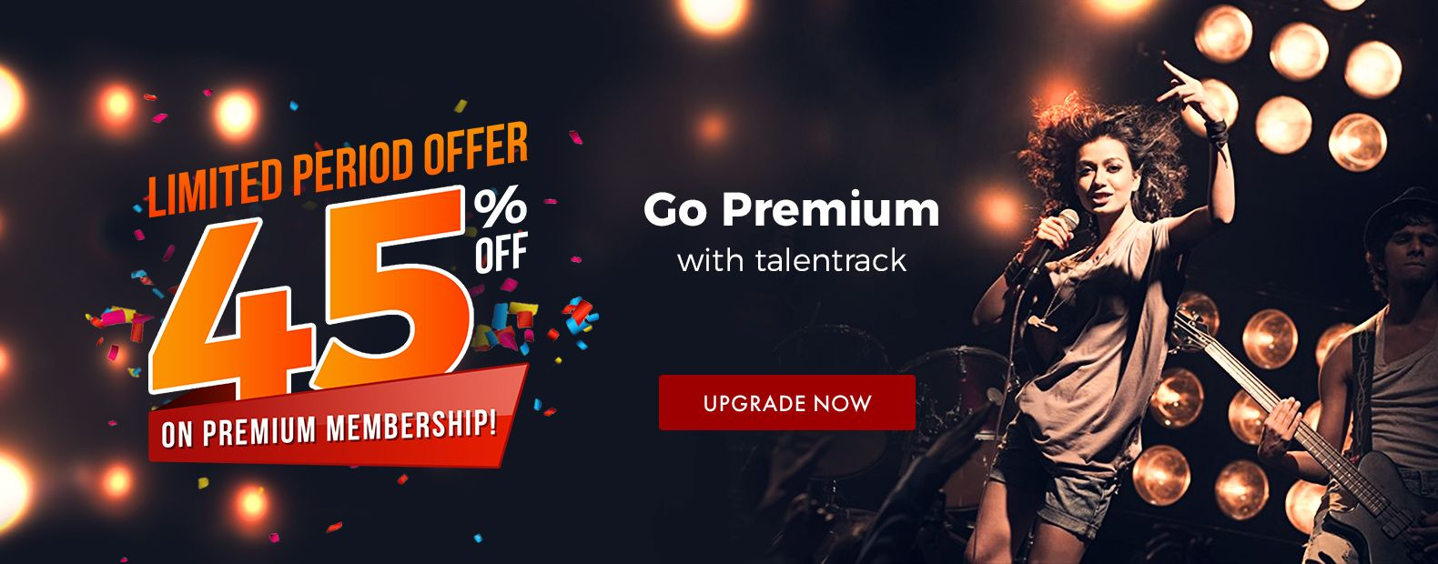 LIMITED PERIOD OFFER 45% ON PREMIUM MEMBERSHIP