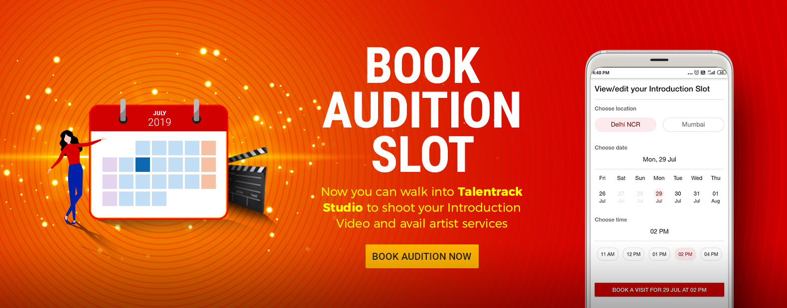 BOOK AUDITION SLOT