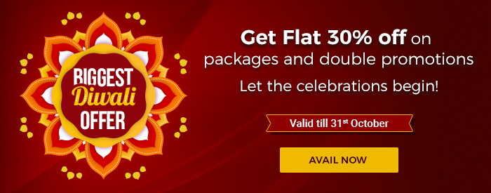 Get Flat 30% off on packages and double promotions