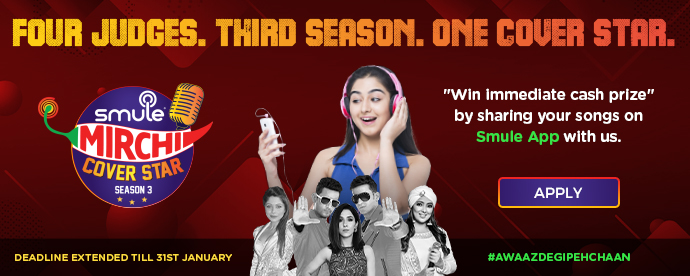 smule MIRCHI COVER STAR, SEASON 3, APPLY