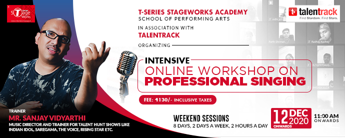 INTENSIVE ONLINE WORKSHOP ON PROFFESSIONAL SINGING
