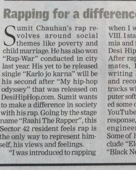 Raahi The Rapper  portfolio image3
